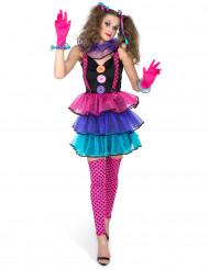 Clown - Kostüm für Damen