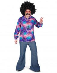 Hippie Disco Hemd für Herren