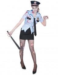 Zombie Polizistinnen Kostüm für Damen