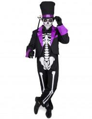 Kostüm Tag der Toten violett für Herren