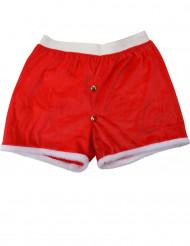 Boxershorts im Weihnachtskostüm rot - weiss