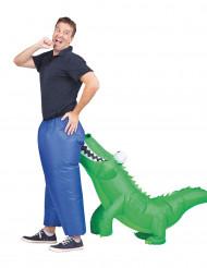 Aufblasbares Krokodilbiss-Kostüm