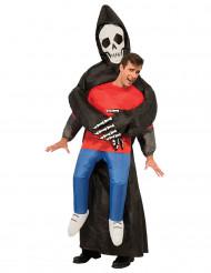 Aufblasbarer Sensenmann Kostümfür Erwachsene
