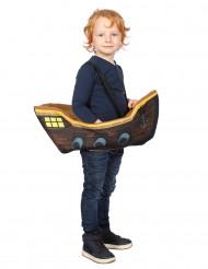 Humorvolle Piraten-Verkleidung Piraten-Schiff für Kinder braun