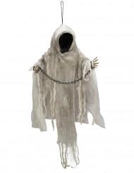Deko  Leucht Skelett ohne Gesicht zum Aufhängen