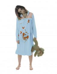 Pyjama Zombie-Kostüm für Damen Halloween