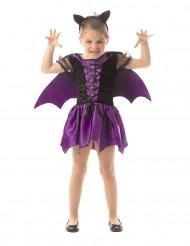 Fledermaus-Kostüm violett für Mädchen
