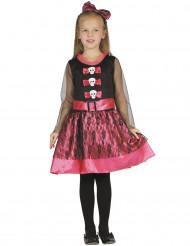Girly Skelett-Kostüm für Mädchen