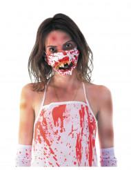 Halloween Maske blutiger-Mund für Erwachsene