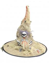 Halloween Hexen-Hut weiss-schwarz