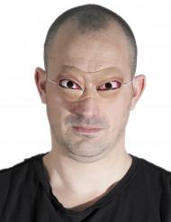 Vampiraugen Augenmaske hautfarben-rot-weiss