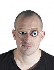 Gruselige Augen Halloween-Maske hautfarben-weiss