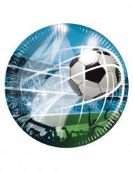 Pappteller Fußball 8-teilig 23cm