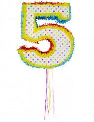 Geburtstags Pinata Zahl 5 bunt