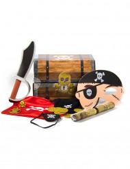 Piraten Schatzkiste mit Accessoires