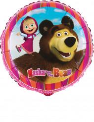 Mascha und der Bär™-Aluminium-Ballon bunt