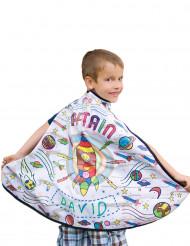Raketen-Umhang mit Textilfarben für Kinder