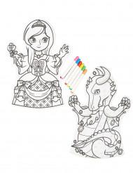 Marionetten mit wasserlöslichen Stiften 2 Stück