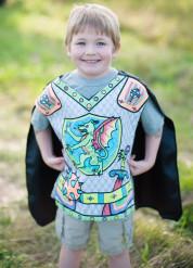Ritter Tunika Drachen-Motiv zum selbst bemalen