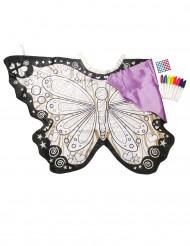 Schmetterling Flügel zum selbst bemalen für Kinder
