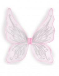 Schmetterlingsflügel mit Glitzer weiss-silber