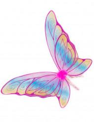 Schmetterlingsflügel mit Glitzer bunt