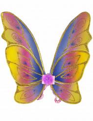 Schmetterlingsflügel mit Glitzer bunt-gold