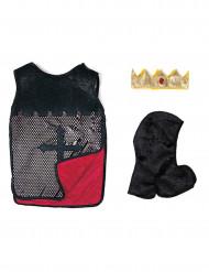 Kinder Ritter-kostümzubehör Tunika Kapuzenhaube und Krone