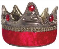 Königliche Krone für Kinder Kostümzubehör rot-gold