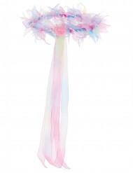 Zauberhaftes Kopfband mit Blumen pastellfarben