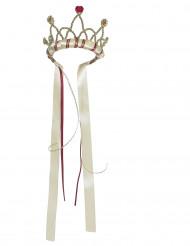 Mittelalter Prinzessinnen Kronefür Kinder beige