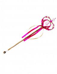 Zauberstab mit Krone und Bändern gold-pink