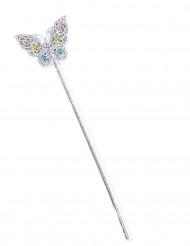 Schmetterling-Zauberstab mit Steinen bunt