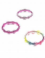 Blumen Armband mit Perlen bunt