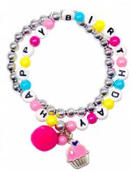 Happy Birthday - Armband für Mädchen