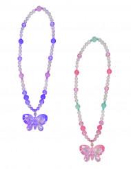 Schmetterling Halskette mit Perlen und Anhänger