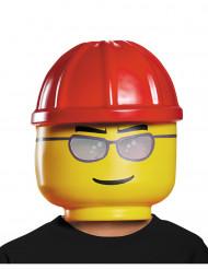 LEGO™ Bauarbeiter Kindermaske Lizenzartikel