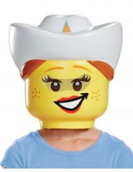 Lego™ Maske Cowgirl für Kinder