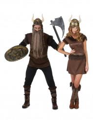 Wikinger Paar Kostüm für Erwachsene