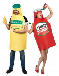 Paarkostüm Ketchup und Mayo Tube