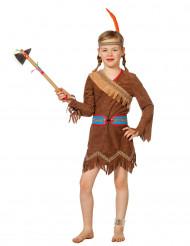 Indianer Prinzessin Kostüm für Mädchen braun