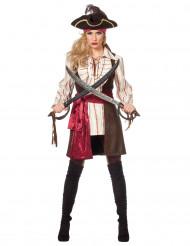 Boucaniere Piratin Kostüm für Damen