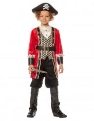 Piratenkapitän Kinderkostüm schwarz-gold-rot