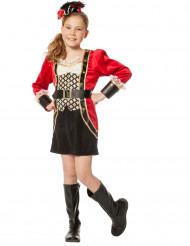 Piratin Luxus Mädchenkostüm schwarz-gold-rot