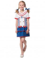 Süsses Matrosenkostüm für Mädchen blau-weiss-rot