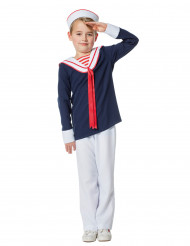 Seemann Kostüm für Jungen blau-weiss