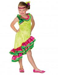 Rumba Tänzerin Kostüm für Mädchen bunt