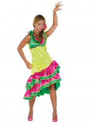 Rumba Tänzerin Kostüm für Damen bunt