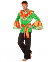 Rumba Tänzer Kostüm für Erwachsene orange und grün