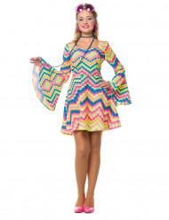 Disco Hippie Kleid für Damen bunt